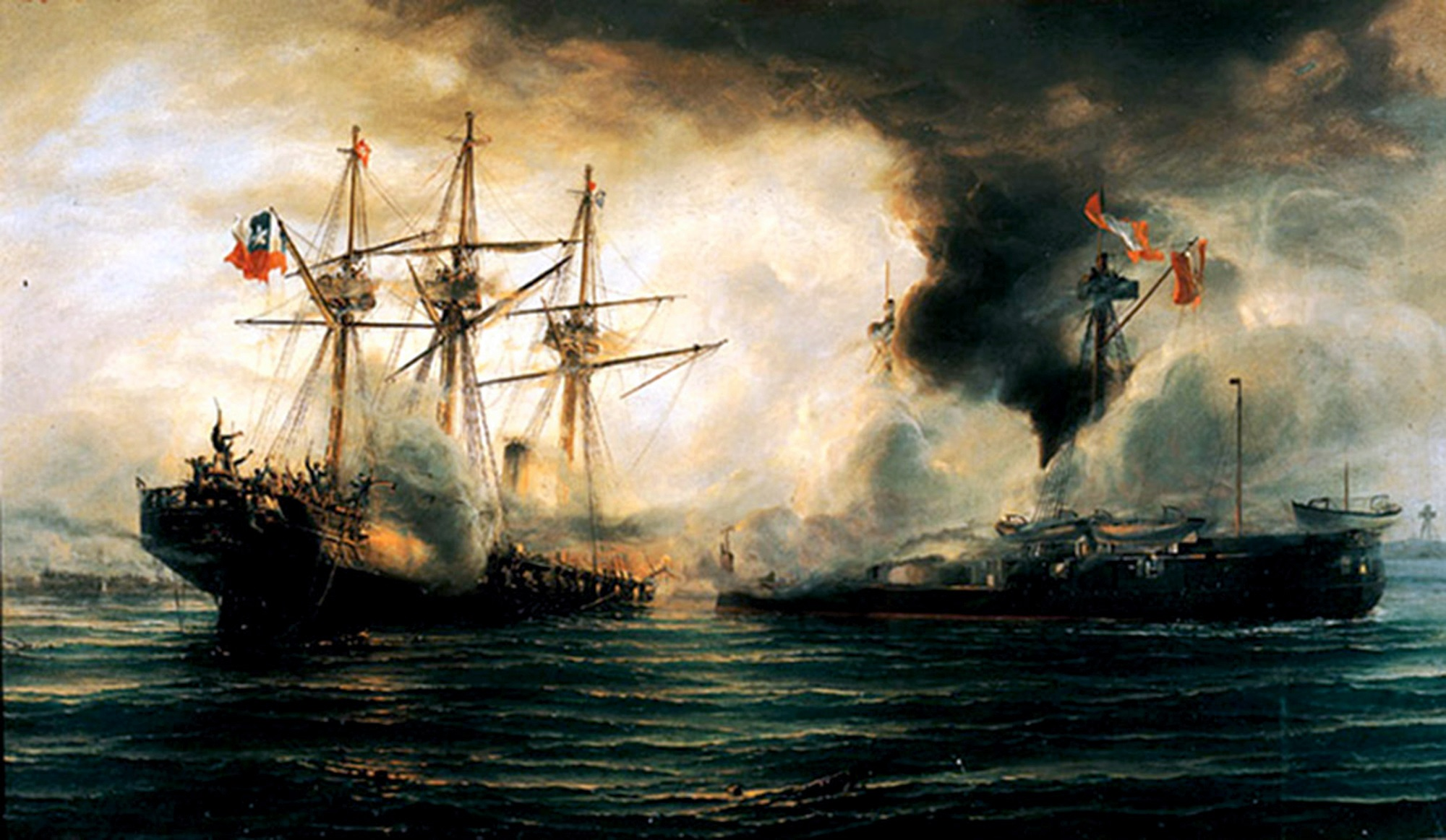 Sinking_of_the_Esmeralda_during_the_battle_of_Iquique